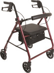 "Probasics Aluminum Walker Rollator with 6"" Wheels RLA6"