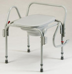 Drop-Arm Commode with Elongated Seat 3225 by TFI Healthcare