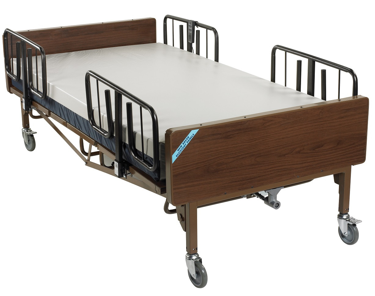 Drive 15300BV-PKG Electric Heavy Duty Hospital Bed Package 15300