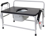Extra Large Heavy Duty Drop-Arm Commode 11132-1 by Drive