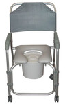 shower padded commode chair w wheels 11114kd1 by drive