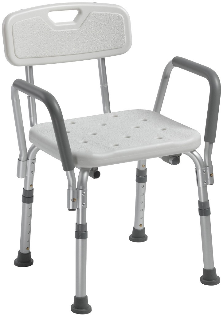 Drive 12445 Shower Chair with Back and Arms