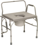 Probasics Heavy Duty Drop-Arm Commode BSBDAC