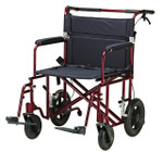 "Heavy Duty Aluminum Transport Chair 12"" Wheels ATC22-R by Drive"