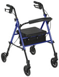 "Drive Universal Height Aluminum Rollator, 6"" Wheels RTL10261"
