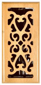4x12 Oak Scrol Register