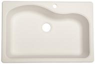 Wht22x33 Sgl Bowl Sink