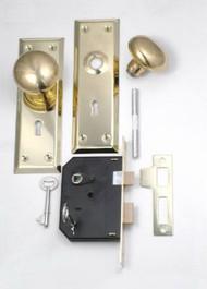 Brs Knob/mortise Lock