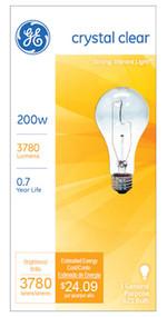 Ge200w Clr Std Lgt Bulb
