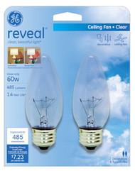 2pk 60w Clr Deco Bulb