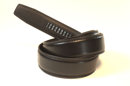 """BLACK - Top Grain Leather Belt   Fits all waist sizes up to 44""""  Belt is 1.25 inches wide and fits all GoTo Belt Buckles"""