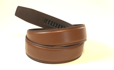 """BROWN - Top Grain Leather Belt   Fits all waist sizes up to 44""""  Belt is 1.25 inches wide and fits all GoTo Belt Buckles"""