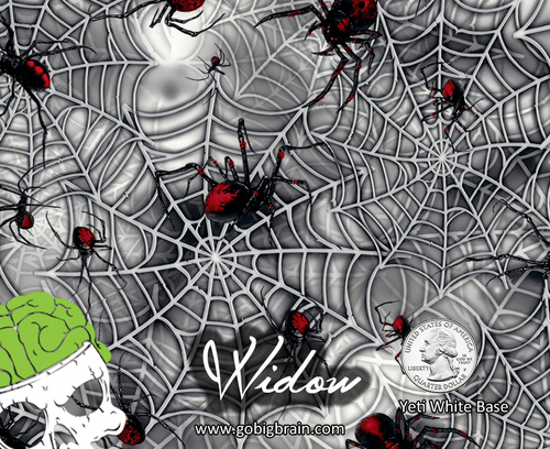 Widow Black Widow Spiders Web Webbing Spiderweb Hydrographics Film Pattern Big Brain Graphics Dip Film Buy Yeti White Base Quarter Reference