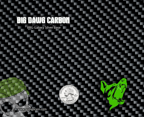 Big Dawg Carbon Detailed Carbon Fiber Print Hydrographics Film Dip Film buy Supplies Big Brain Graphics US Supplier Galaxy Silver Base Quarter Reference