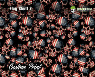 American Flag Skulls 2 Custom Printed Film Custom Hydrographics Printed Film Big Brain Graphics US Seller Hydrographics Printer For Sale