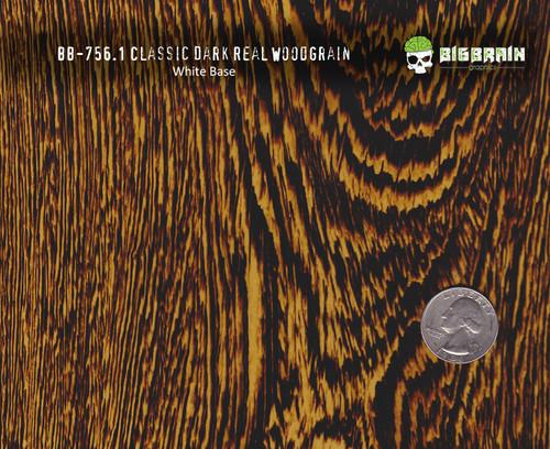 Dark Classic Real Wood Woodgrain Hydrographics Pattern Big Brain Graphics White Base Size Reference
