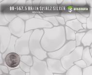 Brain Swirlz Swirls Rocks Abstract Pattern Big Brain Graphics White Base with Size Reference