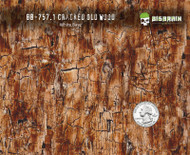 Cracked Rustic Old Wood Hydrographics Pattern WoodGrain Big Brain Graphics White Base Quarter Reference