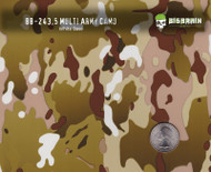 General Oldtime Army Camo Camouflage Hydrographics Pattern White Base Size Reference