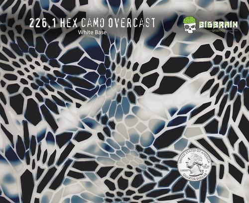 Hex Camo Overcast Light Blue Kryptic Kriptik Kryptek Camo Snakeskin Snake Honeycomb Military Hydrographics Film Pattern Trusted Supplier Big Brain Graphics White Base Quarter Reference