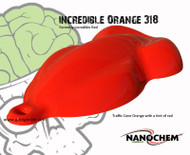 SALE NON-RTS NanoChem Incredible Red-Orange 318 Paint QUART