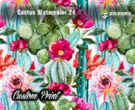 Cactus Watercolor Lily Pulitzer Like Pattern Texas Peonies Flowers Custom Film Printing Printed Print Big Brain Graphics Hydrographics Dip Film
