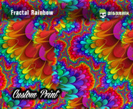 Fractal Rainbow Watercolor Oil Painting Abstract Awesome Cool Hydrographics Dip Pattern Custom Film Print Big Brain Graphics