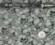 Shadow Skulls Skull Graveyard Pattern Hydrographics Film Dipping Big Brain Graphics White Base Quarter Reference