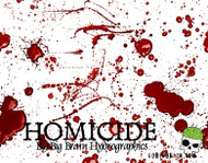 Homicide Blood Splatter Splats Murder Pattern Hydrographics Film Big Brain Graphics Seller White Base