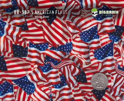 American Flags America Full Color Pattern Big Brain Graphics Buy Film Quarter Reference