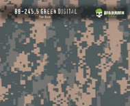 Green Digital Camo Military Hydrographics Pattern Big Brain Graphics Beige Base