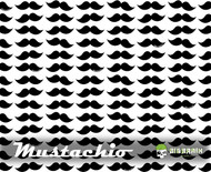 Mustachio Mustache Hydrographics Film Big Brain Graphics White Base