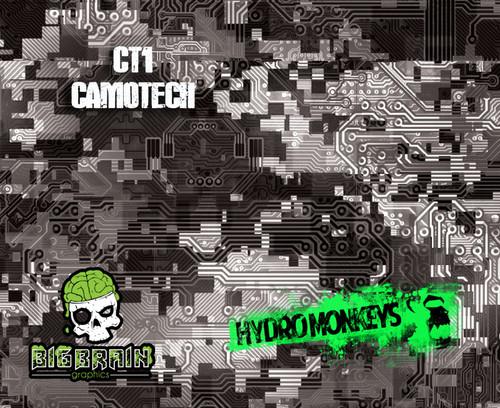 Camotech Circuit Board CT1 Hydrographics Film Hydromonkeys UK Big Brain Graphics USA Seller