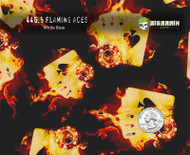 Flaming Aces Flame Gambler Gambling Chips Hydrographics Film Buy Big Brain Graphics White Base Quarter Size Reference