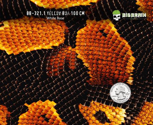 Yellow Boa Python Snake Snakeskin Hydrographics Pattern Film Buy Big Brain Graphics White Base Quarter Reference