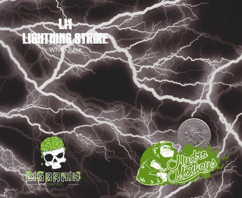 Lightning Strike LI1 Hydrographics Pattern Film Buy Dipping Big Brain Graphics Seller White Base Quarter Reference