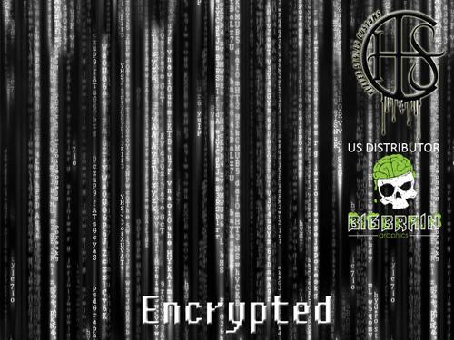 Encrypted Matrix Pattern Hydrographics Film Big Brain Graphics White Base
