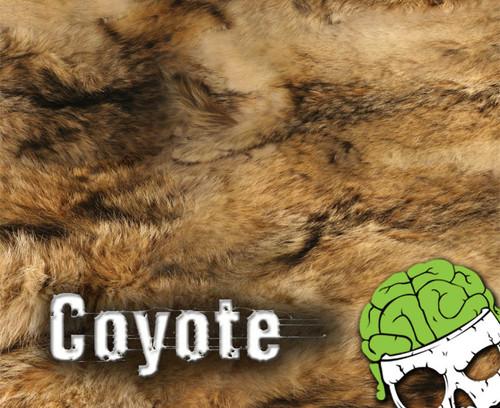 Coyote Animal Fur Realistic Hydrographics Film Pattern White Base Big Brain Graphics Furry
