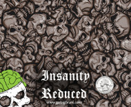 Insanity Reduced Skulls Skull Big Brain Graphics Custom Hydrographics Film Pattern Big Brain Graphics White Base Quarter