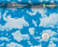 Clouds Sky Heaven Hydrographics Pattern Film Big Brain Graphics White Base Quarter