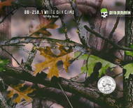 White Oak Camo Camouflage Leaves Leaf Green Big Brain Graphics Hydrographics Film White Base Quarter