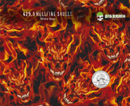 Hellfire Skulls Flaming Flame Skulls Orange Evil Big Brain Graphics White Base Quarter Reference