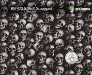 Skull Graveyard Skulls Hydrographics Film Films Big Brain Graphics 420 White Base Quarter Reference