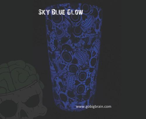 Sky Blue Yeti Cup Sugar Skulls Girl Woman Pattern Print Dippable Dipping Big Brain Graphics Hydrographics