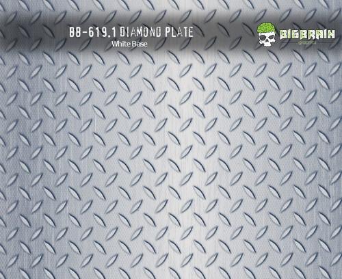 Silver Metallic Diamond Plate Big Big Brain Graphics Hydrographics Film Metal Silver Base