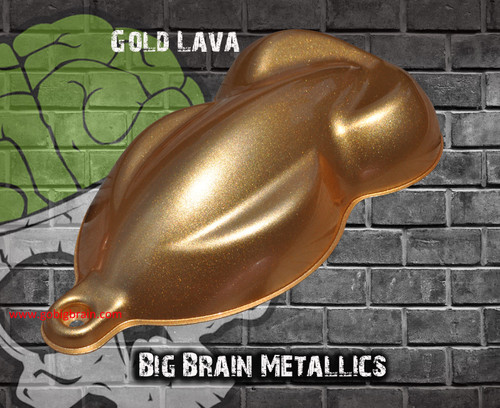 Gold Lava Highly Metallic Paint Big Brain Graphics Automotive High Quality