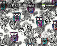 Paisley Owls Super Cute Girly Pattern Hydrographics Film Big Brain Graphics Supplier Film Supplies Buy White Base Quarter Reference