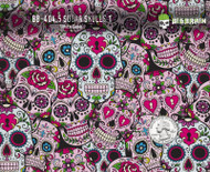 Pink Sugar Skulls Girly Hydrographics Pattern Film Big Brain Graphics Supplier USA Buy Supplies Paint