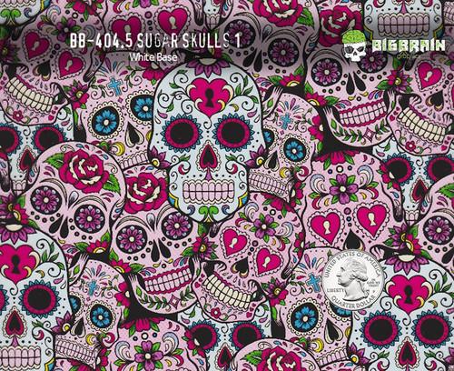Pink Sugar Skulls Girly Hydrographics Pattern Film Big Brain Graphics Supplier USA Buy Supplies Paint