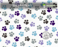 Paw prints paws Puppies Hydrographics Film Sellable Big Brain Graphics Seller USA White Base Quarter Reference